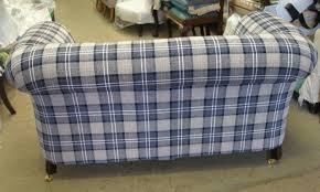 Tartan Chesterfield Sofa Edwardian 1930s Drop Arm 2str Chesterfield Sofa Sold