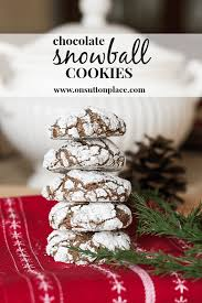 chocolate snowball cookies on sutton place