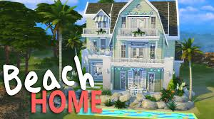Sims House Ideas The Sims House Building Cape Cod Beach Home Youtube Arafen