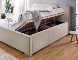 Schlafzimmer Betten Komforth E Polsterbett Mit Bettkasten Larissa 180x200 Beige Bett Doppelbett