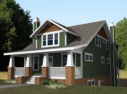 craftsman style homes with brick house design plans