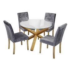 lpd furniture paris silver velvet dining chair pair leader stores
