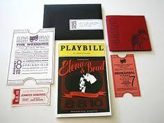 playbill wedding program theater poster wedding invitation unique wedding invitation
