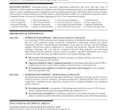 Oil And Gas Resume Template Contemporary Resume Format Petroleum Engineer Industrial Sample 1