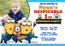 Personalized Birthday Invitation Cards Best Personalized Minion Birthday Invitations Egreeting Ecards