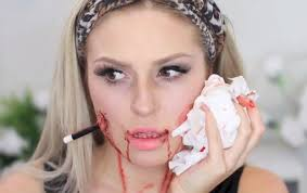 fake blood halloween makeup impale your face for halloween with this bloody diy pencil