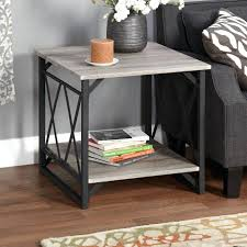 Storage End Table Fancy Living Room End Tables With Drawers Brown Storage End Table