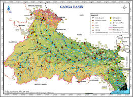 Varanasi India Map by Ganga