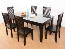 netfoold sheesham glass top 6 seater dining set buy and sell used
