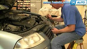 how to install replace headlight and bulb volkswagen passat 02 05