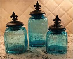 glass kitchen canisters sets kitchen blue ceramic kitchen canister sets throughout blue