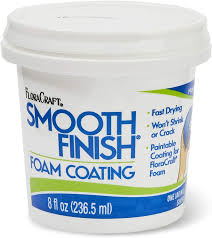 how do i get a smooth finish on kitchen cabinets floracraft smooth finish paintable foam coating 8 ounce