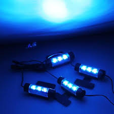 Lights For Car Interior 4 X 3 Pcs Blue Leds Glow Neon Decoration Interior Light Lamp For