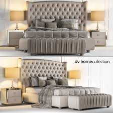 Vogue Bedroom Furniture by 3d Model Bed Vogue Dvhomecollection Cgtrader