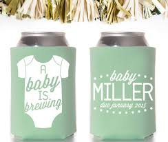 baby shower koozies onesie a baby is brewing baby shower favors custom and