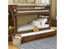 Trendwood Laguna TwinTwin Bunk Bed W Trundle Old Brick - The brick bunk beds