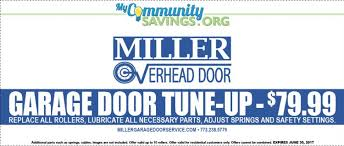 Miller Overhead Door Garage Door Tune Up 79 99 My Community Savings
