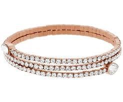 bangle bracelet swarovski images Twisty drop bangle white rose gold plating jewelry swarovski jpg