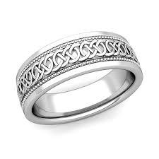 celtic knot wedding bands mens celtic knot wedding band in 18k gold milgrain comfort fit ring