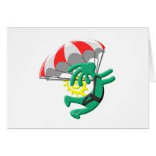 parachutist greeting cards zazzle