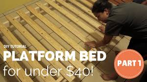 King Size Platform Bed Diy by How To Build A Platform Bed For 40 Part 1 Of 3 Youtube