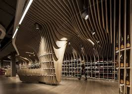 sophisticated design sophisticated wavy wooden ceiling that invite memorable feeling