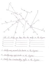 maths angles worksheet corresponding angle relationships a bunch