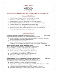 Cyber Security Analyst Resume Basic Intelligence Analyst Resume Template