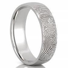 mens ring fingerprint wedding band men s fingerprint on outside of wedding