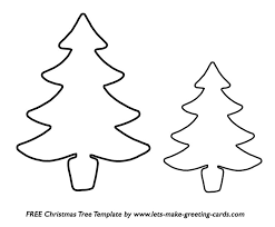 printable christmas tree templates u2013 happy holidays