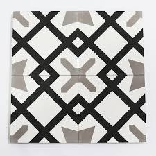 cement tile encaustic cement tile star cross pattern 8 x8 stock