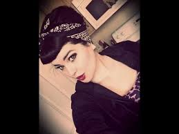 pinup clip in ponytail with bangs rockabilly pin up look bettie bangs and bouffant style with bandana