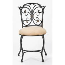 Chair For Bathroom Vanity by Hillsdale Furniture Sparta Vanity Stool Black Gold Walmart Com