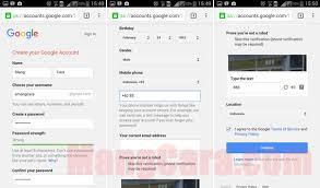 membuat email baru gmail cara membuat akun email gmail di hp android