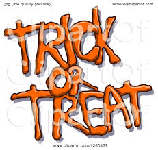small halloween emoticons transparent background clipart of orange halloween trick or treat text with a shadow