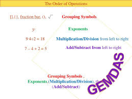 ideas of order of operations with grouping symbols worksheets with