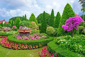 Nong Nooch Tropical Botanical Garden by Nong Nooch Tropical Garden In Pattaya Thailand Stock Photo