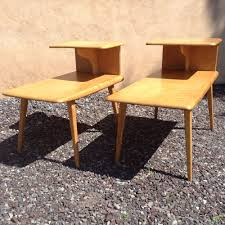 Heywood Wakefield Bamboo by Details About Vintage Mid Century Heywood Wakefield Maple Pair Of
