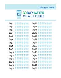 Water Challenge 30 Day Challenge 2sweatbees