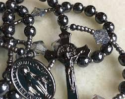 hematite rosary hematite rosary etsy