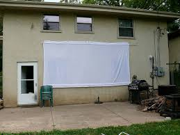 Backyard Projector How To Sew A Backyard Drive In Movie Screen 9 Steps With Pictures