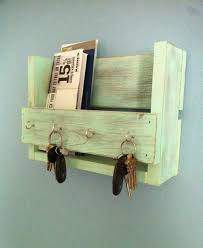 Mail Organizer Wall Diy Wall Mail Organizer With Key Hooks Made From Reclaimed Wood