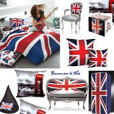 chambre anglais décoration chambre drapeau anglais