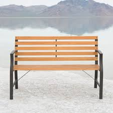 Wrought Iron Bench Wood Slats Outdoor Benches Patio Chairs The Home Depot Picture On Astounding