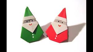 How To Make A Origami Santa - origami santa claus easy origami how to make an easy