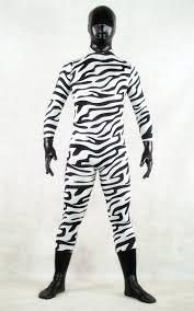 Halloween Costumes Zebra Zebra Print Black Head Halloween Costume Zentai Cosercosplay