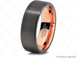 gunmetal wedding band black gunmetal tungsten ring gold wedding band ring tungsten