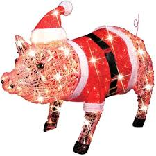 Christmas Outdoor Decorations Santa by 28 Best Pig Tree Images On Pinterest Pigs Pig Crafts And