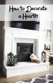 Fireplace Decorating Best 25 Fireplace Hearth Decor Ideas On Pinterest Mantle