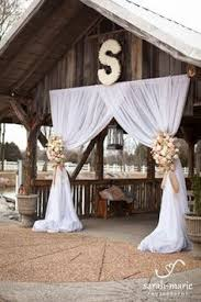 Wedding Arches Made From Trees Wedding Arch I Made For Daughters Wedding Repurposed Curtains